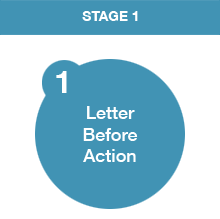 there are four key stages that we follow in the debt collection process letter before action